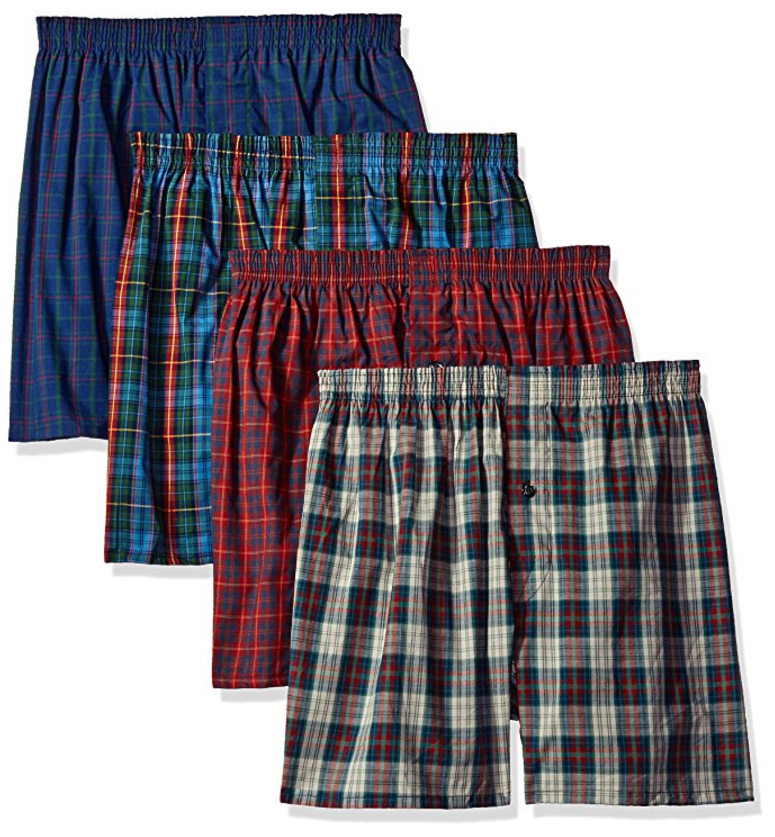 Men's Premium Woven Boxer (4 Pack) from Fruit of the Loom