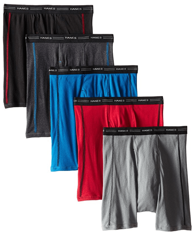 Men's Sports-Inspired Boxer Brief (Pack of Five) from Hanes