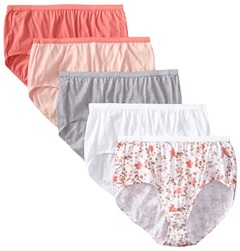 Women's 5 Pack Cotton Brief Panty