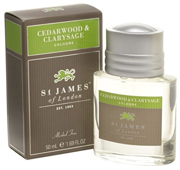 Cedarwood and Clarysage Cologne from St James of London