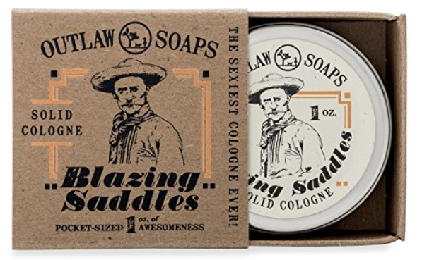 Blazing Saddles Solid Cologne from Outlaw Soaps